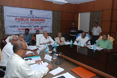Public Hearing for Inclusion of the Castes/Communities for the Central List of OBCs for the State of Assam held on 17.10.2014 at Guwahati.