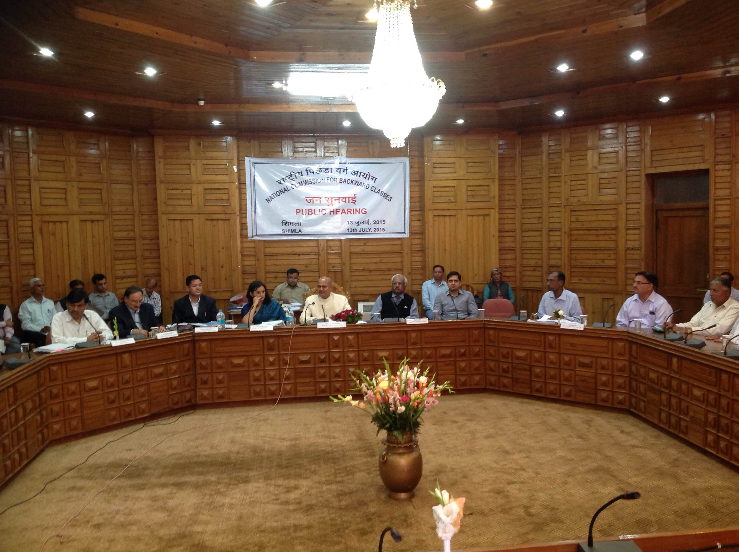 Public Hearing held at Himachal Pradesh  from 13th, 15th & 17th July, 2015