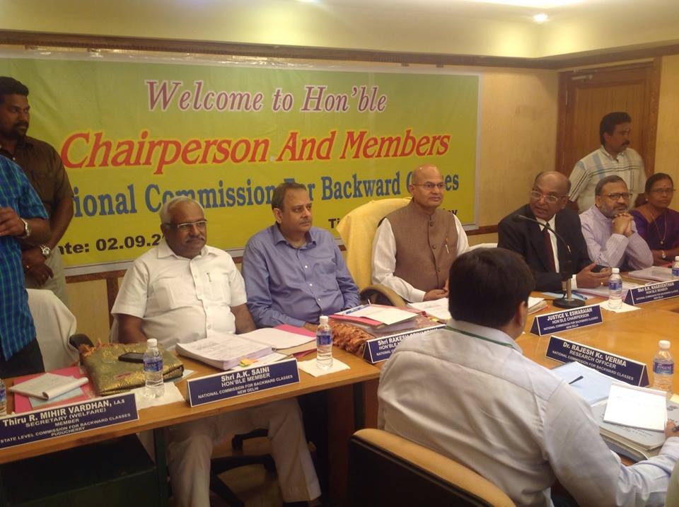 Public Hearing held at Puducherry  from 2nd September, 2016
